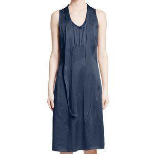 NWT Burberry Cathy Silk Satin Dress Navy Blue Sz 4